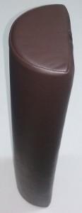 HENGERPÁRNA Félhenger Kemény Szivacsból 60x15x10 cm - Sötétbarna