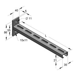 MEFA C35 Konzol H35/21 L=315 mm