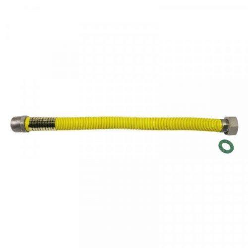 """PEPE gáz nyújtható flexibilis bekötőcső K-B 1/2""""-1/2"""" 50-100 cm"""