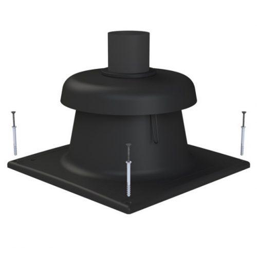 TRICOX kürtő fedél fekete 80 mm