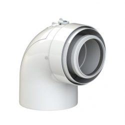 Tricox PPs/alu ellenörző könyök 60/100 mm, 90°