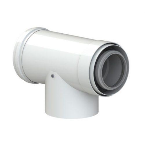 Tricox PPs/alu ellenörző T-idom 60/100 mm