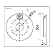 STYRON Csőtakaró, szimpla 15-16 mm