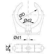 STYRON Rézcsőbilincs, 22 mm, egyes