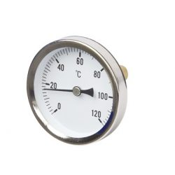 """Hőmérő 0-120°C, átm. 63, hátsó csatl. 1/2"""", L=45 mm"""