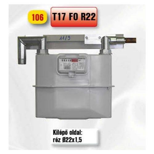 PEROGAZ T17FOR22 fali mérőállomás, kilépő oldal réz 22
