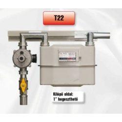PEROGAZ T22R28 fali szabályozó-mérőállomás, kilépő oldal réz
