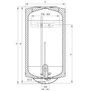 Hajdu Z120 elektromos melegvíztároló