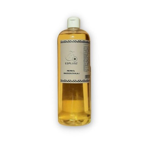 S-PLUSZ Herbal Illatmentes Masszázsolaj 1000 ml