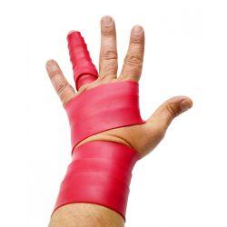 FLOSSBAND Terápiás Változó Szélességű Gumiszalag Ujjra 1,53 m x 3,7 cm 1,1 mm piros*