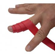 FLOSSBAND Terápiás Változó Szélességű Gumiszalag Ujjra 1,53 m x 3,7 cm 1,1 mm piros (flossing szalag)