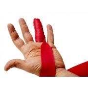 FLOSSBAND Terápiás Gumiszalag Ujjra 1,53 m x 3,7 cm 1,1 mm piros (flossing szalag)