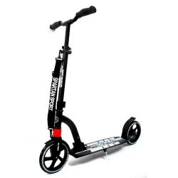 SPARTAN Double Suspension Scooter Roller - Fekete