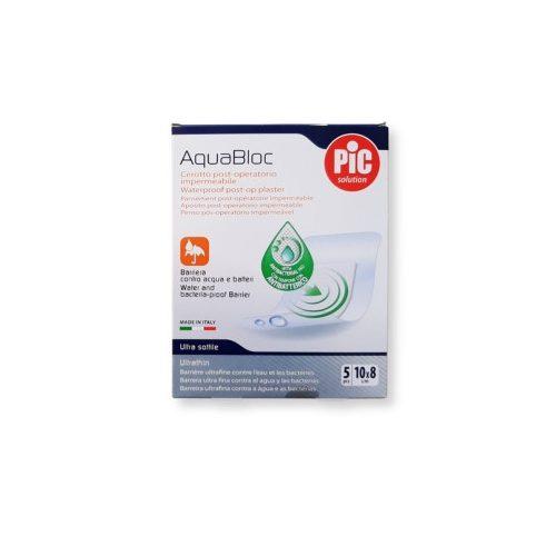 PIC antibakteriális sebtapasz Aquabloc 10x8cm 5 db
