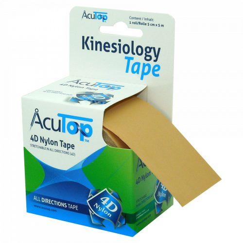 ACUTOP 4D Nylon Kineziológiai Szalag 5 cm x 5 m Bézs (minden irányban nyújtható)