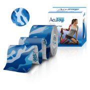 ACUTOP Design Kineziológiai Szalag / Tapasz 5 cm x 5 m Kék-Terep