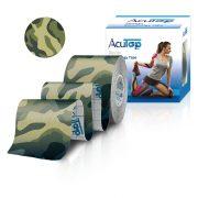 ACUTOP Design Kineziológiai Tapasz / Szalag 5 cm x 5 m Zöld-Terep