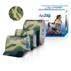 ACUTOP Design Kineziológiai Tapasz / Szalag 5 cm x 5 m Zöld-Terep*