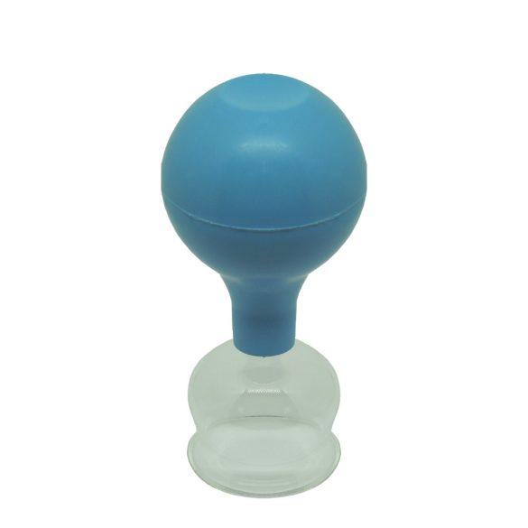 ÜVEGKÖPÖLY Gumilabda-pumpával 3,2 cm